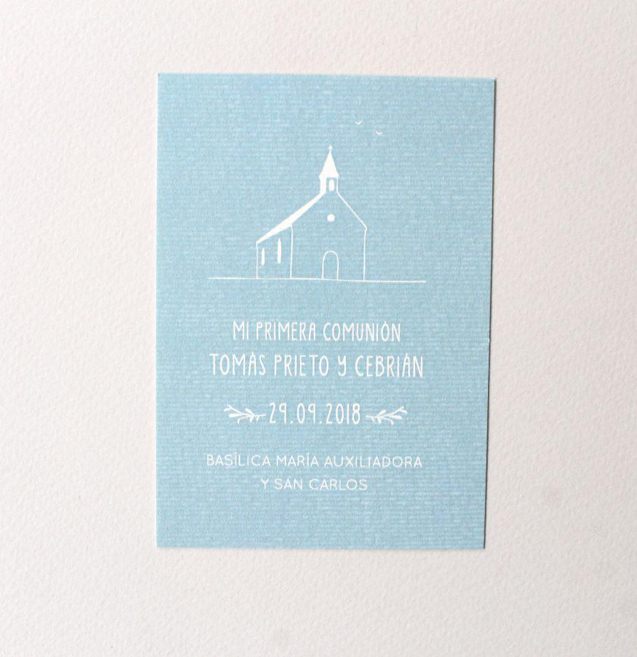 Estampita de bautismo Francisco x 15 un.