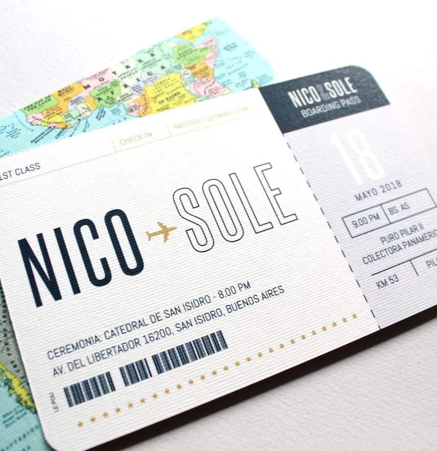 """""""Passport"""" INVITACION DE CASAMIENTO"""