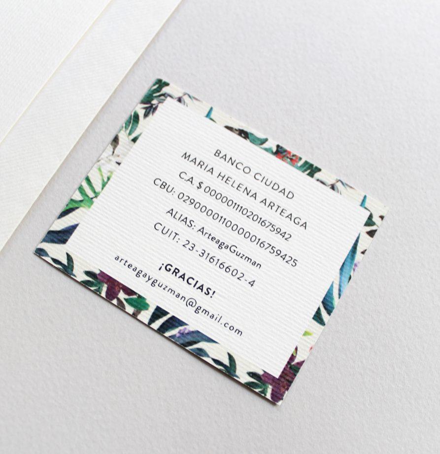 """""""Aruba"""" INVITACION DE CASAMIENTO"""
