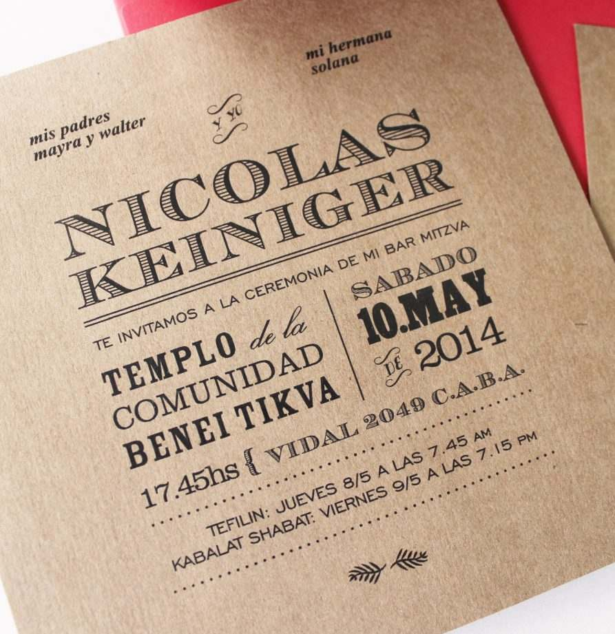 """Nicolas"" INVITACION MITZVA"