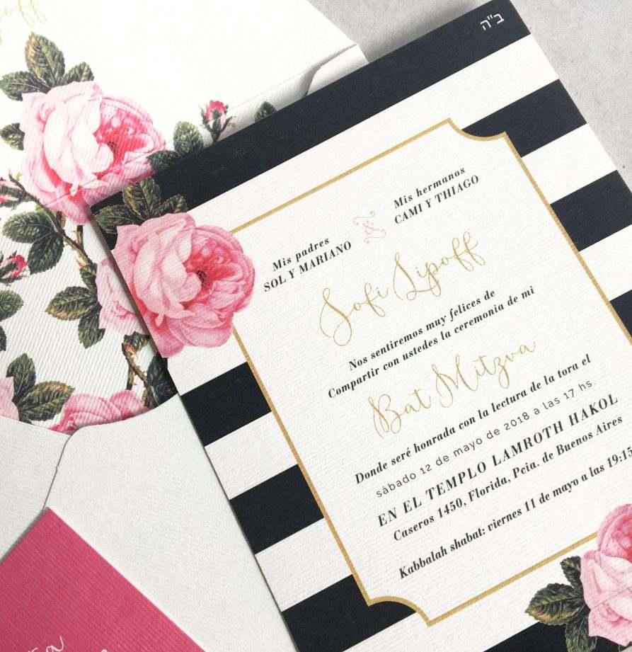 """Roses"" INVITACION MITZVA"
