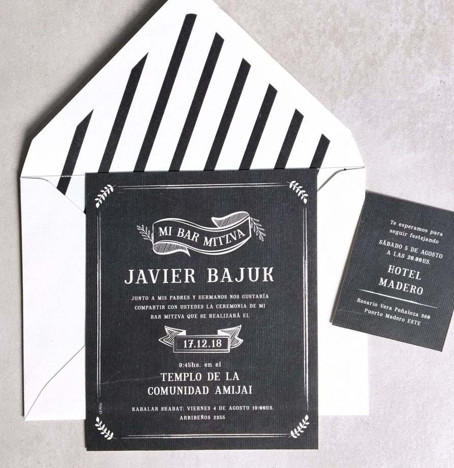"""Javier"" INVITACION MITZVA"