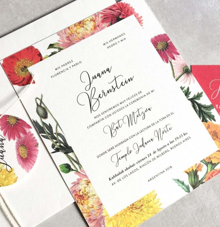 """Juanita"" INVITACION MITZVA"