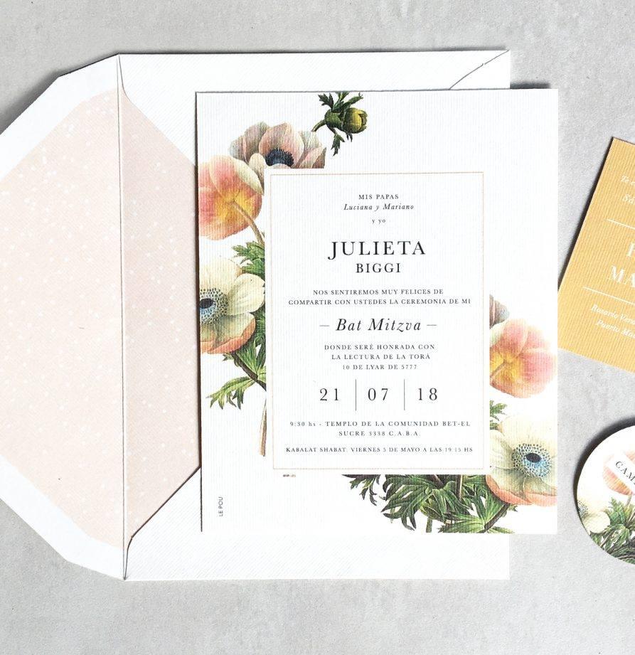 """""""Julieta"""" INVITACION MITZVA"""