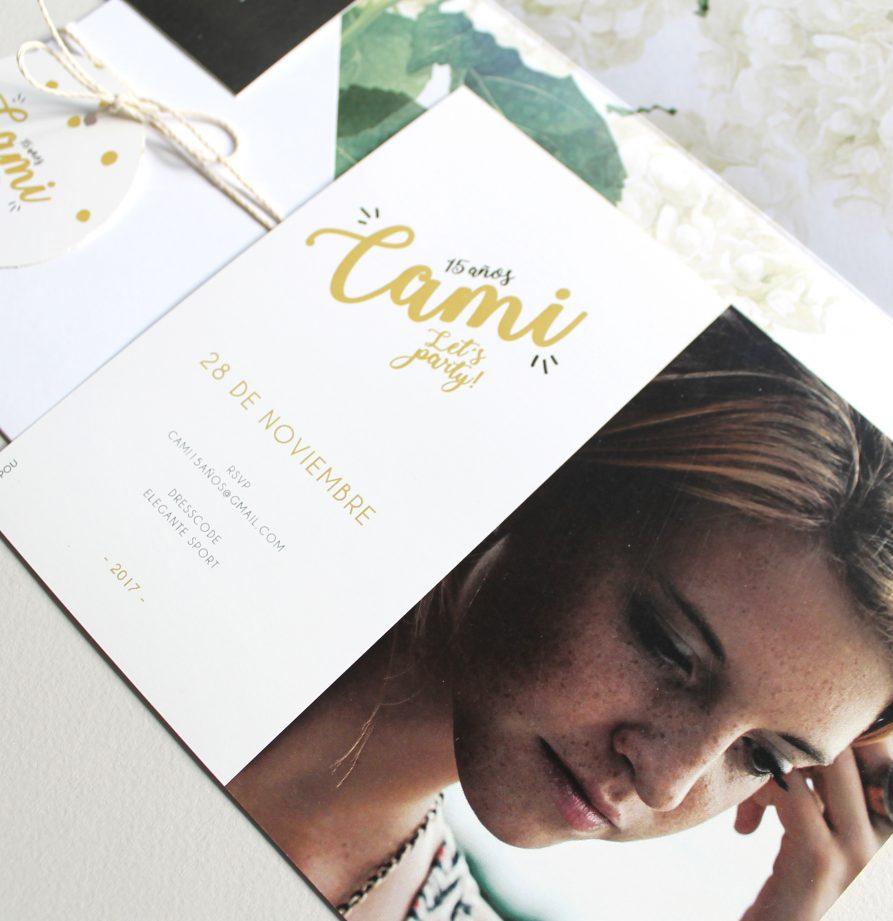 """""""Camila"""" INVITACION DE QUINCE"""