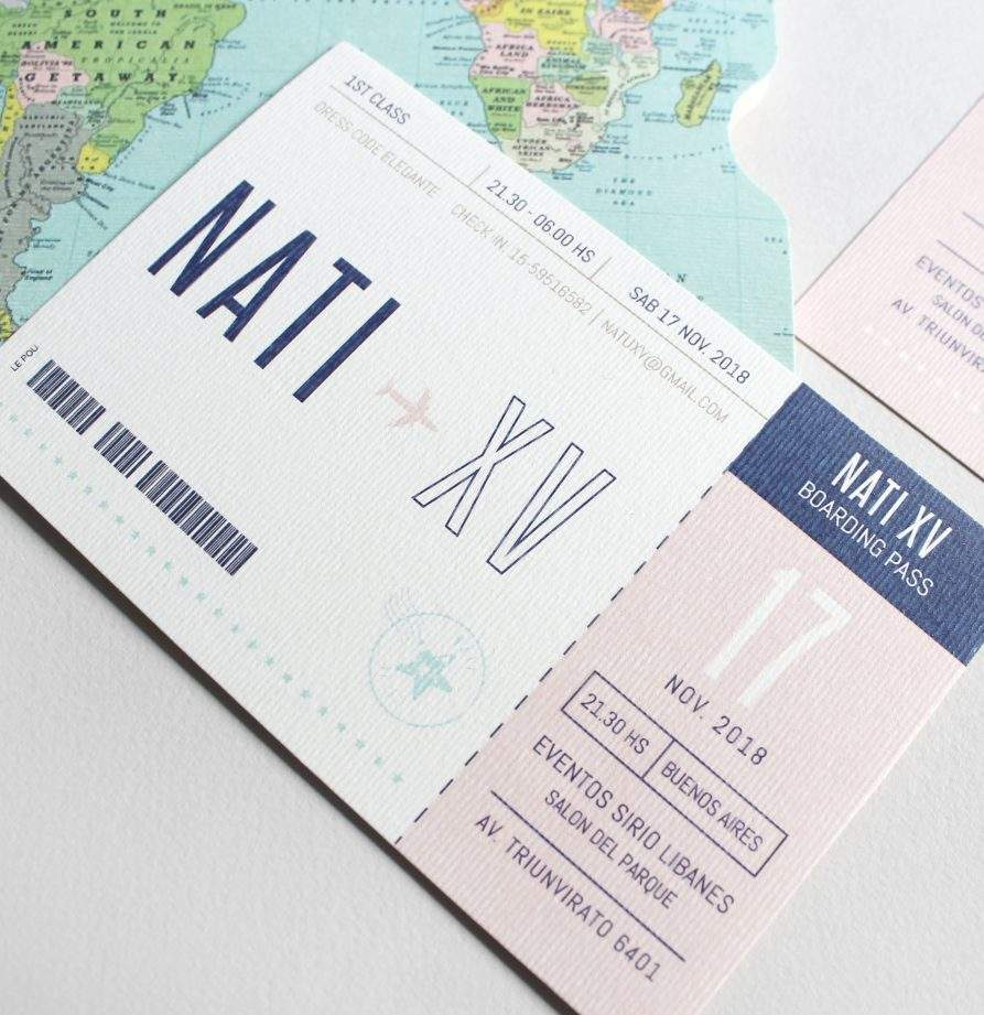 """Passport"" INVITACION DE QUINCE"