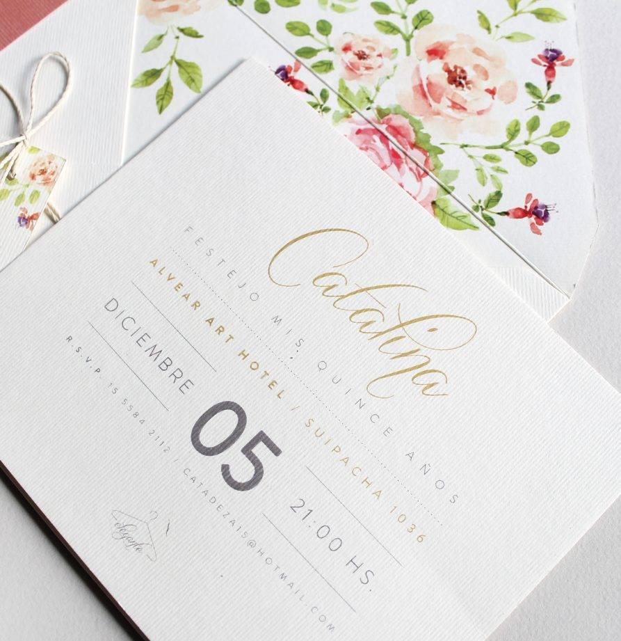 """""""Catalina"""" INVITACION DE QUINCE"""