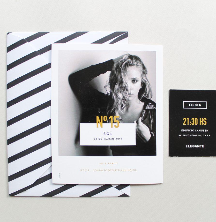 """""""Chanel"""" INVITACION DE QUINCE"""