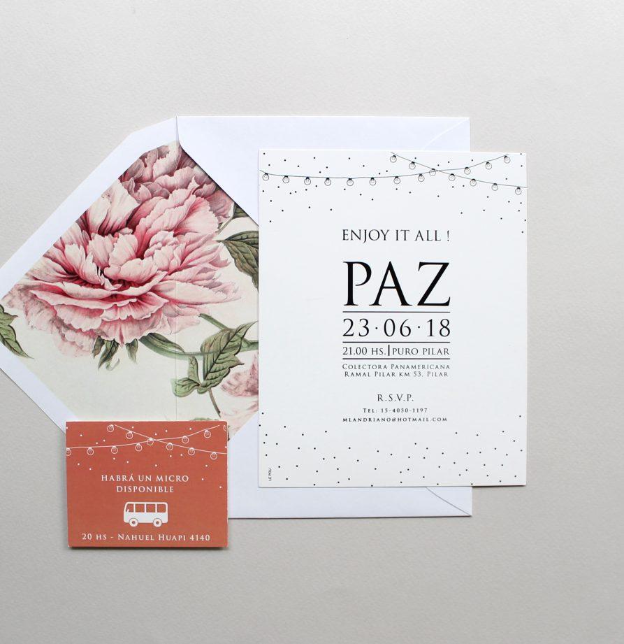 """""""Paz"""" INVITACION DE QUINCE (Copy)"""