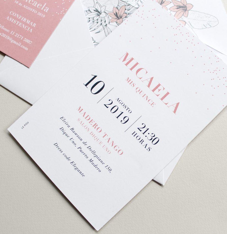 """""""Margarita"""" INVITACION DE QUINCE"""