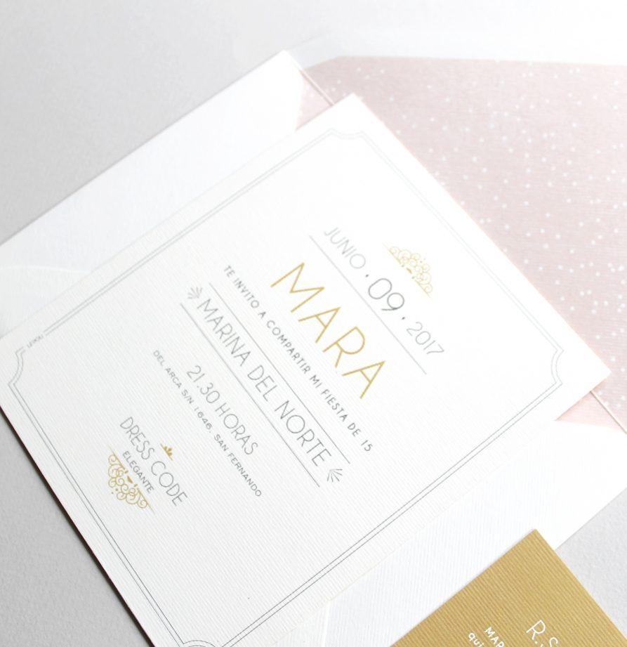 """""""Ines"""" INVITACION DE QUINCE"""
