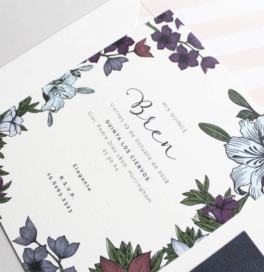 """""""Florencia"""" INVITACION DE QUINCE"""