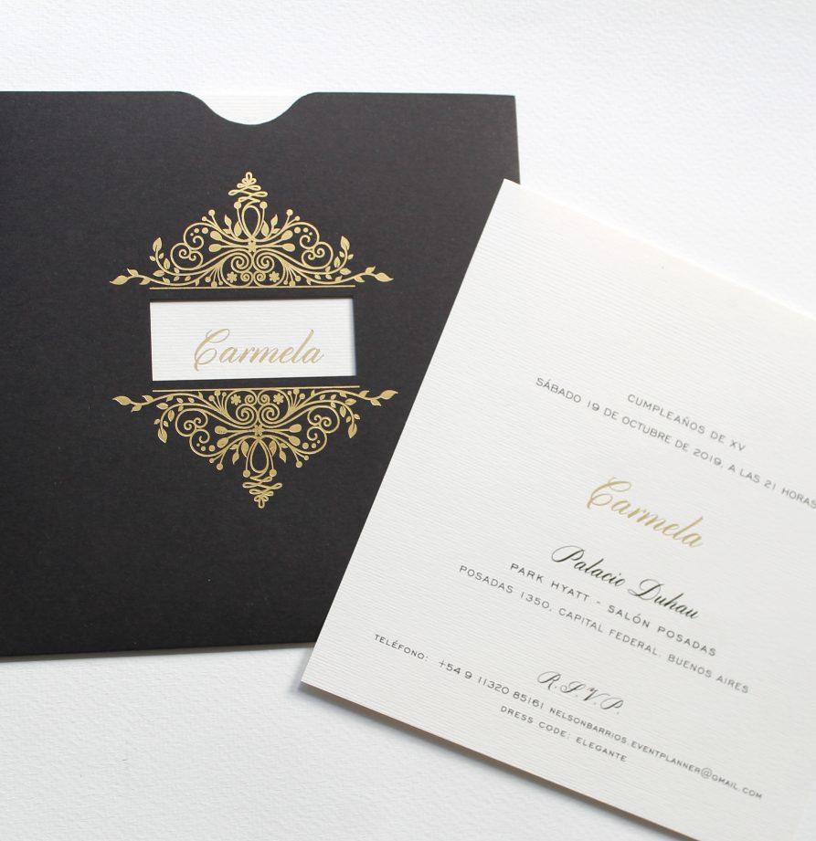 """Carmela"" INVITACION DE QUINCE"