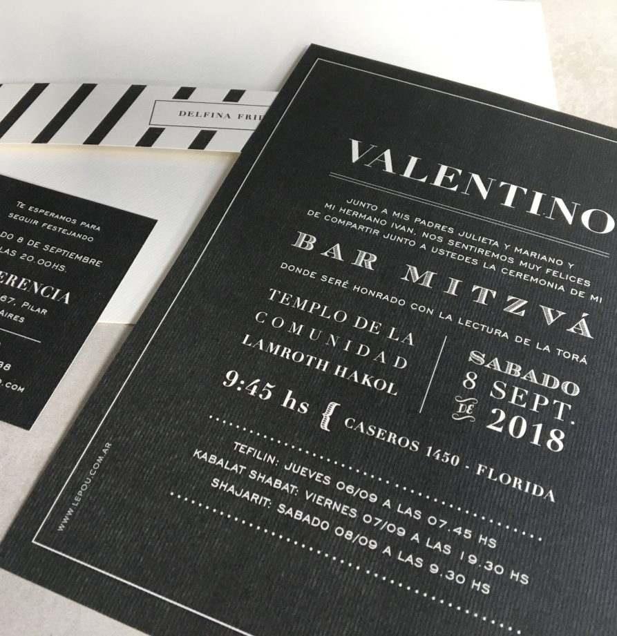 """""""Valentino"""" INVITACION MITZVA"""