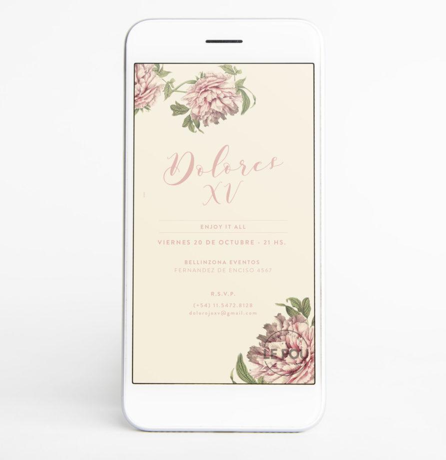 """Invitacion Digital """"Dolores"""""""