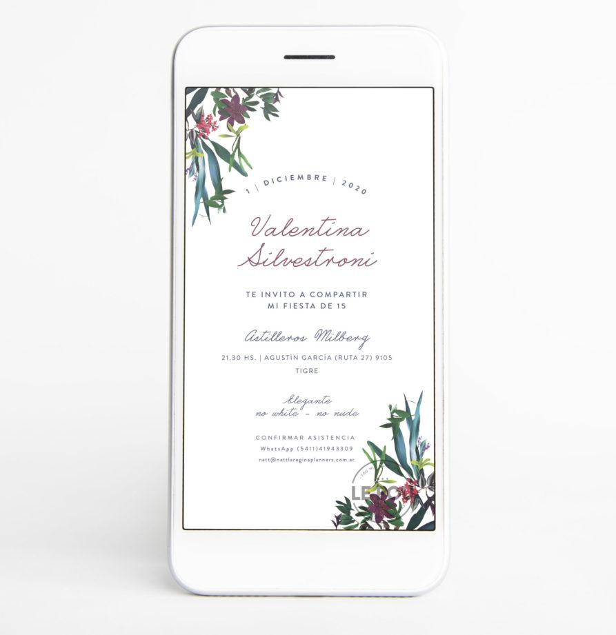 "Invitacion Digital ""Valentina"""