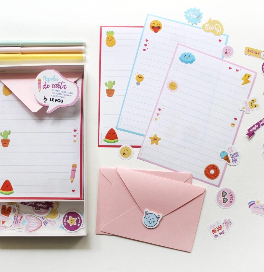 """Set de papeles de carta """"Emoji"""""""
