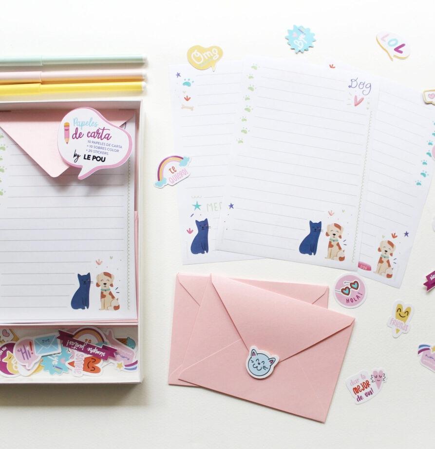 """Set de papeles de carta """"Mascotas"""""""