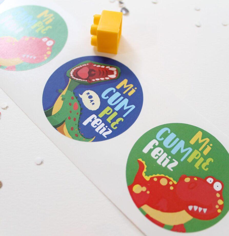 """Stickers """"Dinosaurio"""" x 10"""