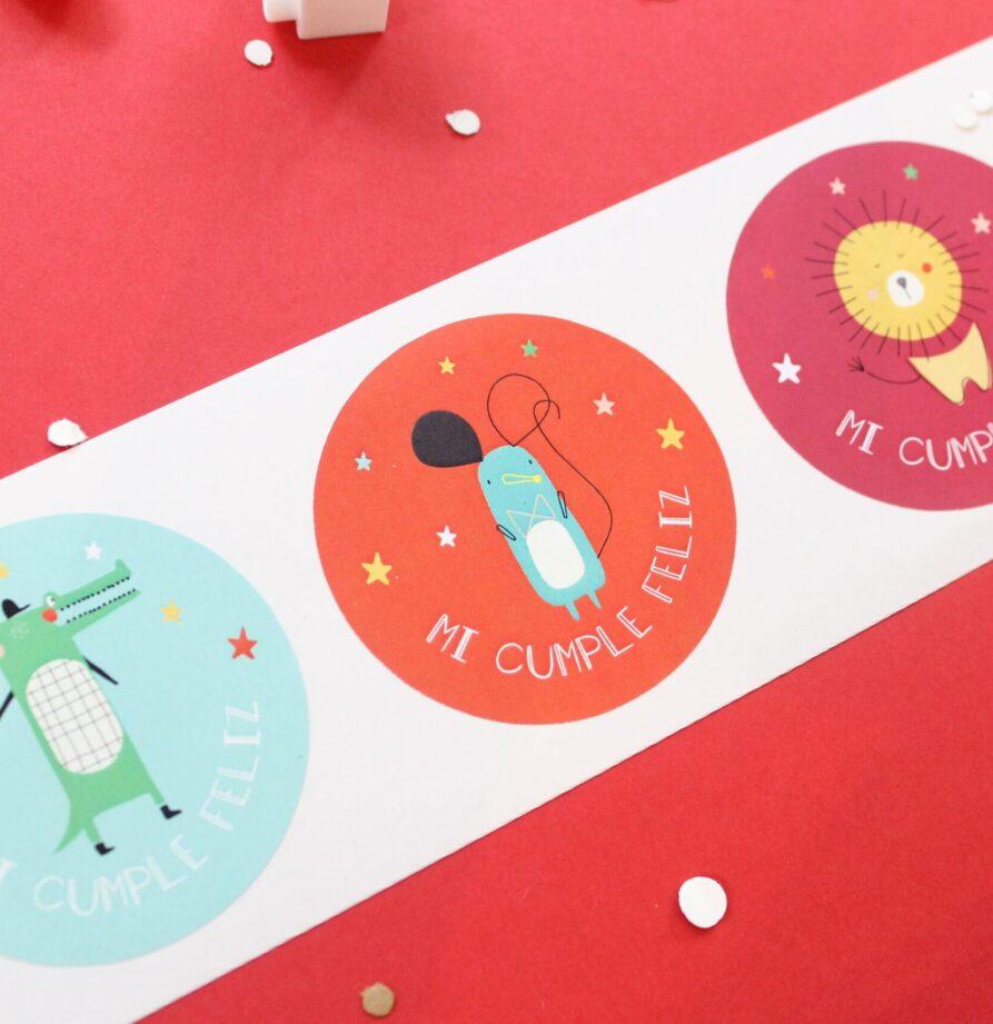 "Stickers ""Circo"" x 10"