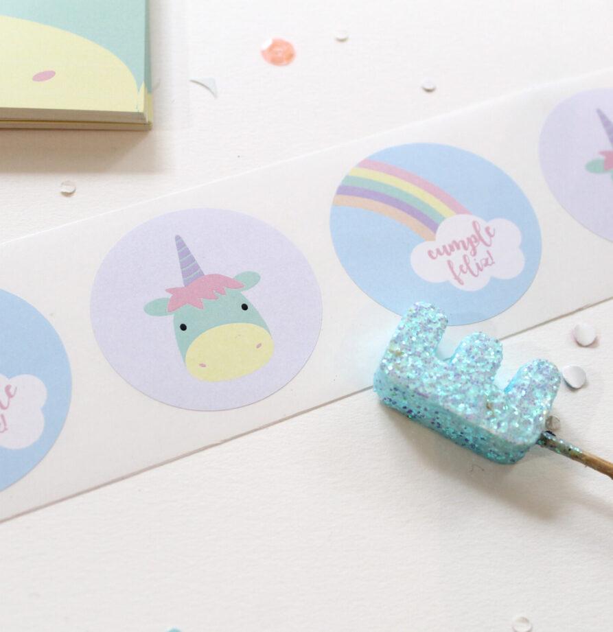 "Stickers ""Unicornio"" x 10"