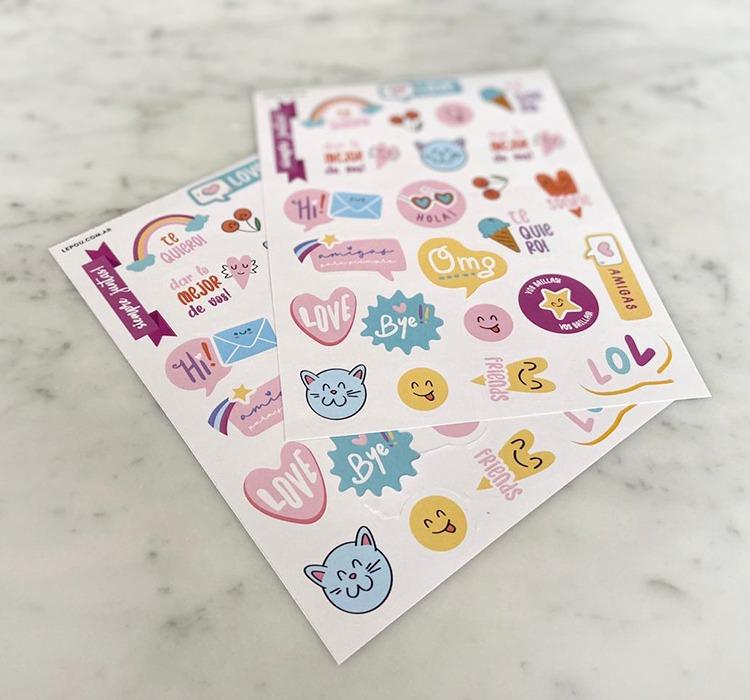 Stickers x 50u. (2 planchas)