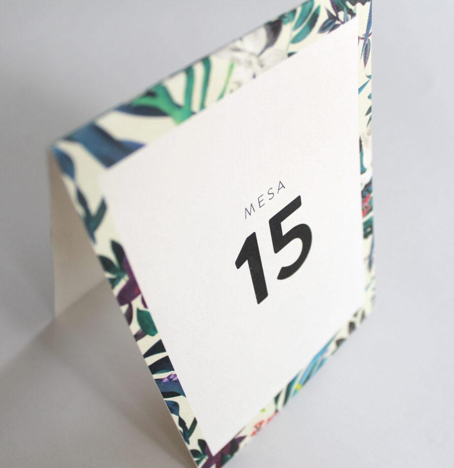 Set de 8 numeros de mesa para modelo Aruba
