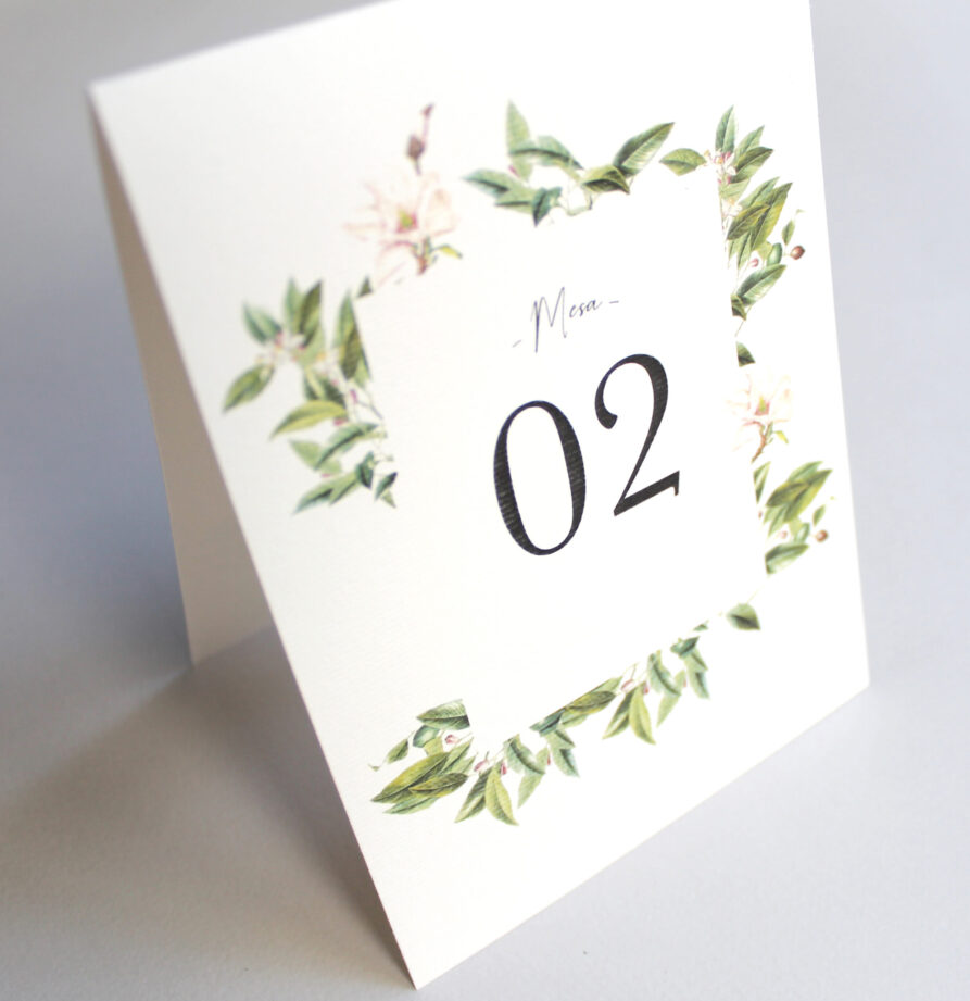 Set de 8 numeros de mesa para modelo Corcega