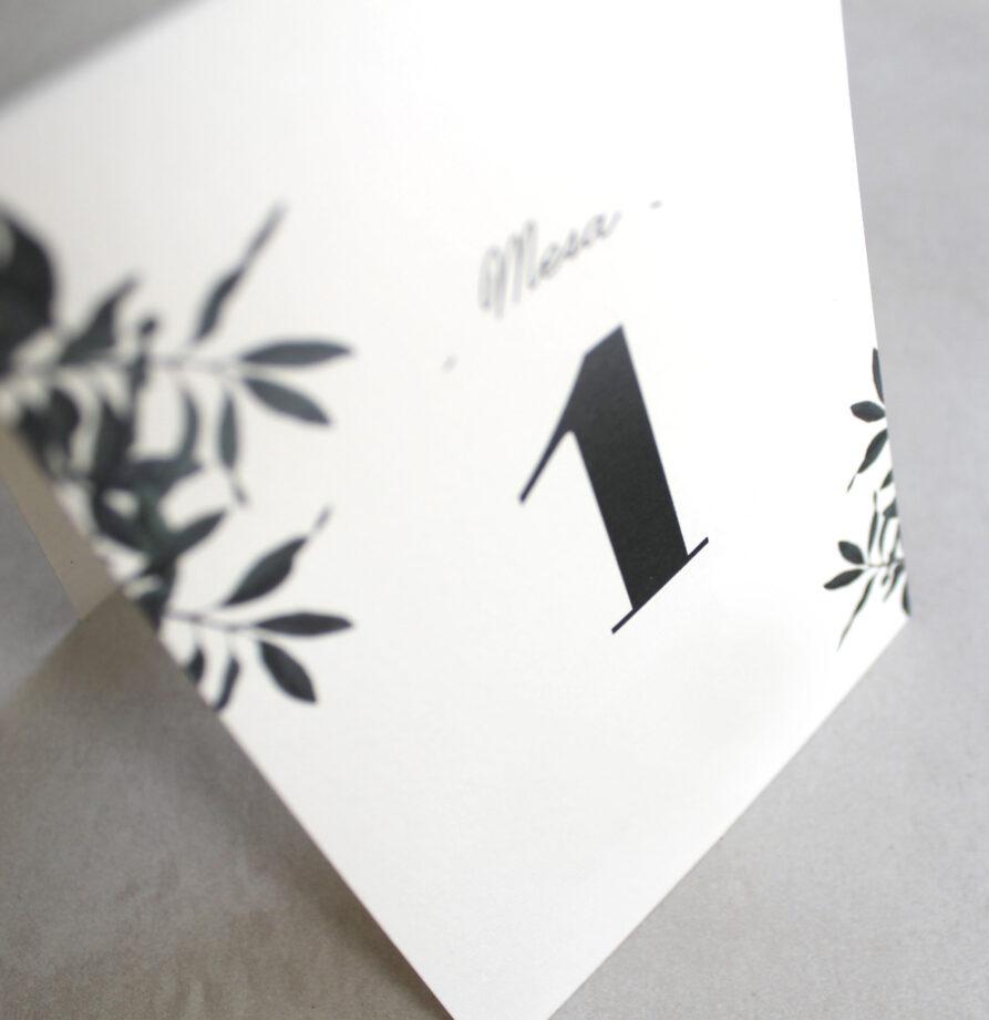 Set de 8 numeros de mesa para modelos Estambul / Bilbao