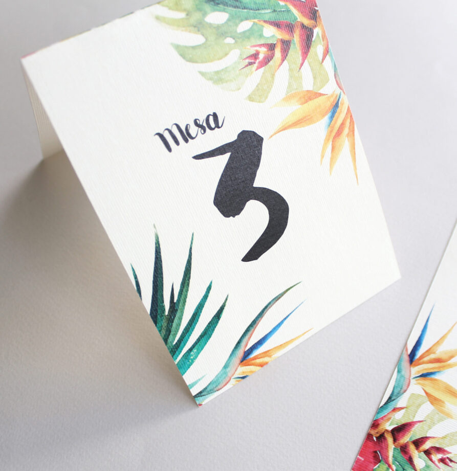 Set de 8 numeros de mesa para modelo Hawaii