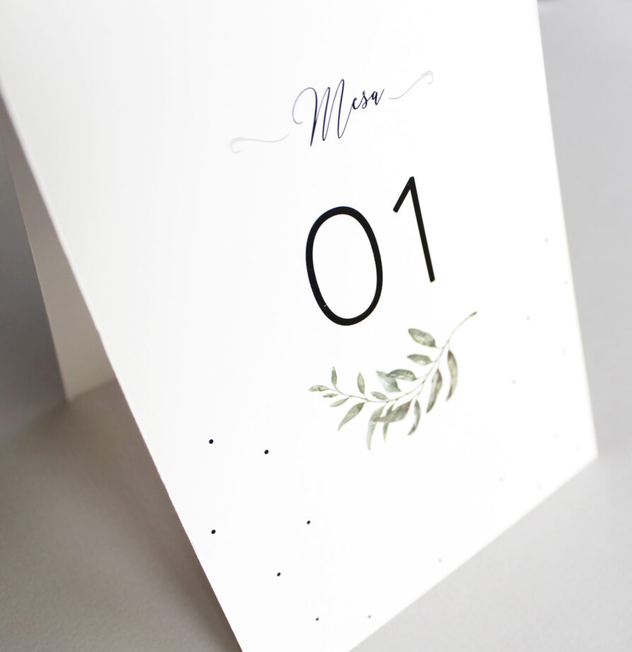 Set de 8 numeros de mesa para modelo Malmo