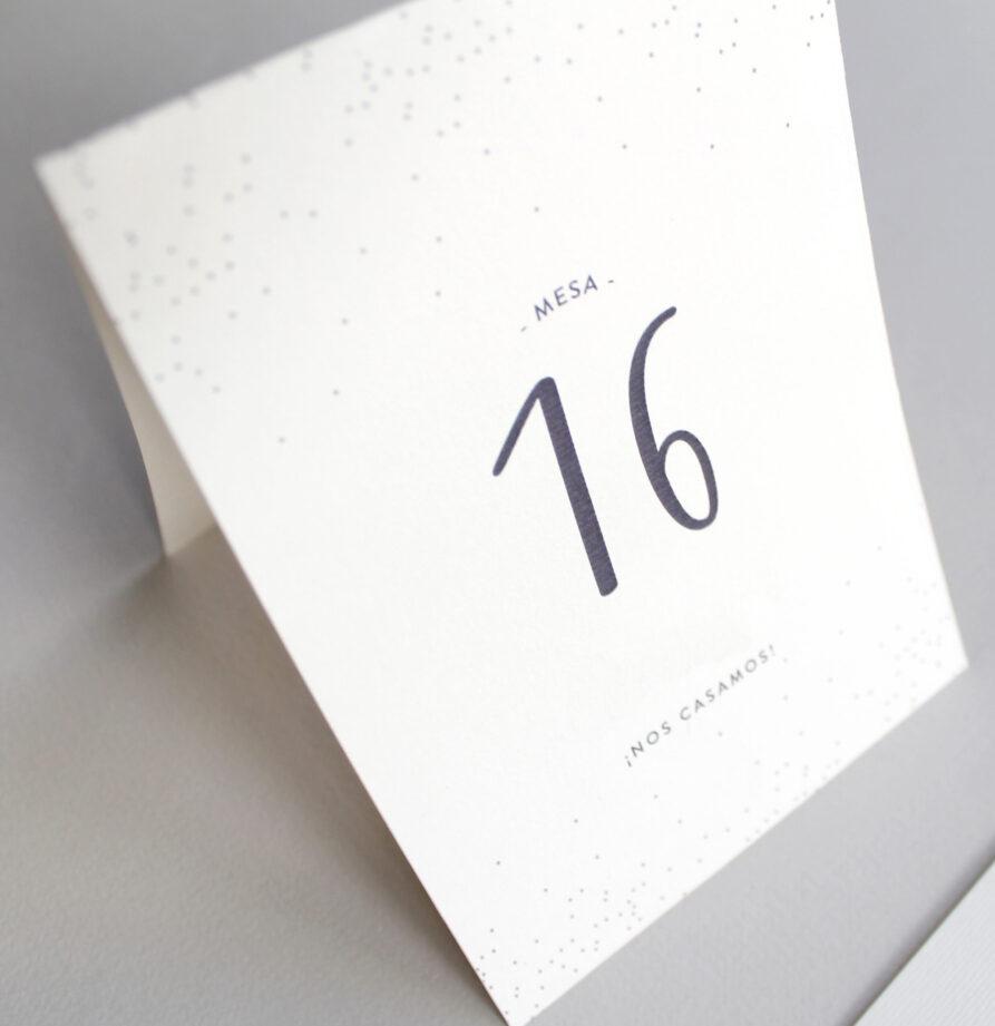 Set de 8 numeros de mesa para modelos Palma / Viena