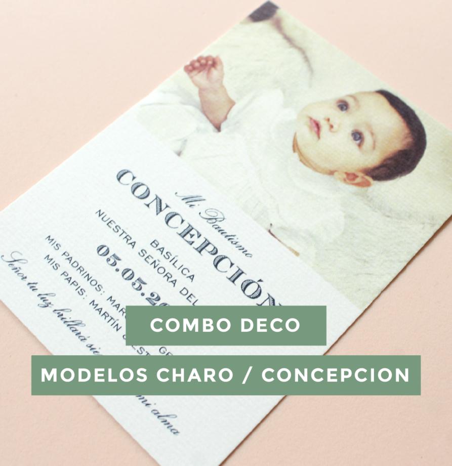 Combo deco Charo / Concepcion